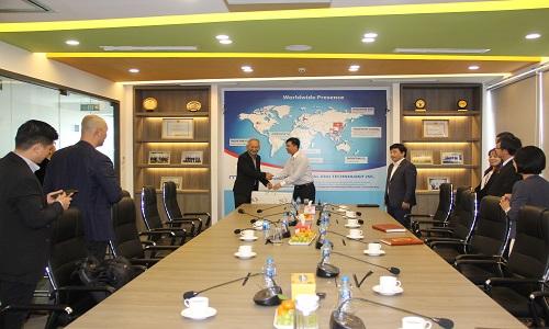 Tiếp đón Chủ tịch Công ty ETN tại văn phòng MobiFone Global